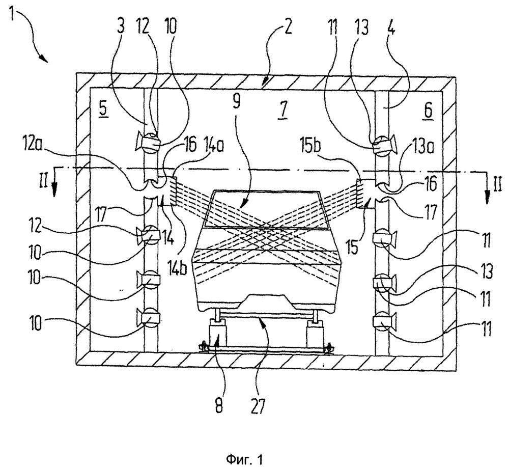 Устройство для термостатирования автомобильных кузовов
