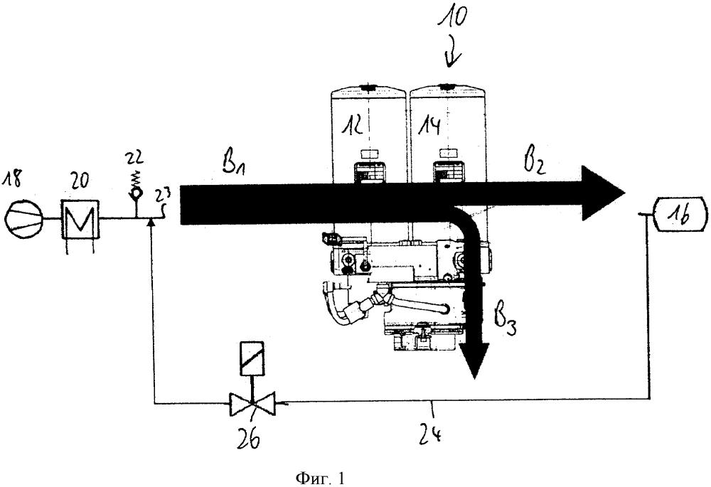 Устройство осушки для рельсового транспортного средства