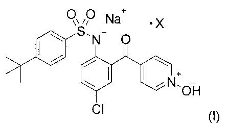 Полиморфные формы натриевой соли 4-трет-бутил-n-[4-хлор-2-(1-окси-пиридин-4-карбонил)-фенил]-бензолсульфонамида