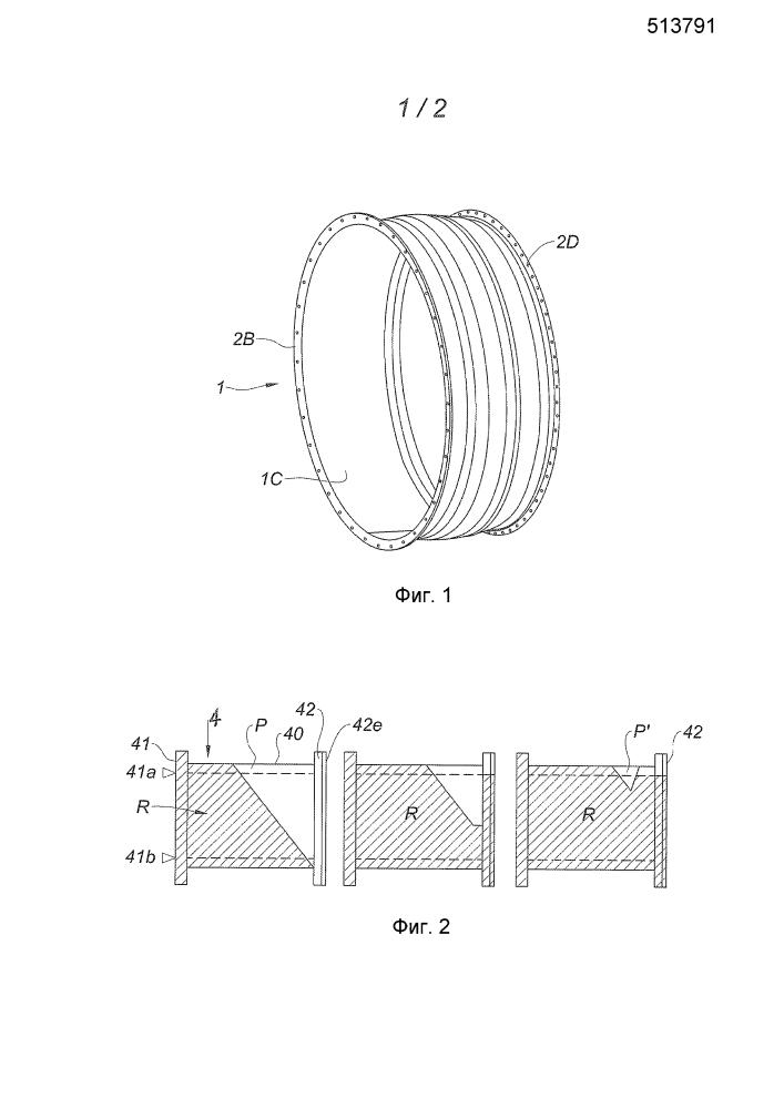 Способ и устройство для изготовления цилиндрической детали из композитного материала