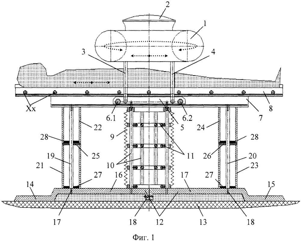 Функциональная структура опорной части медицинского стола с тороидальной хирургической робототехнической системой (вариант русской логики - версия 9)
