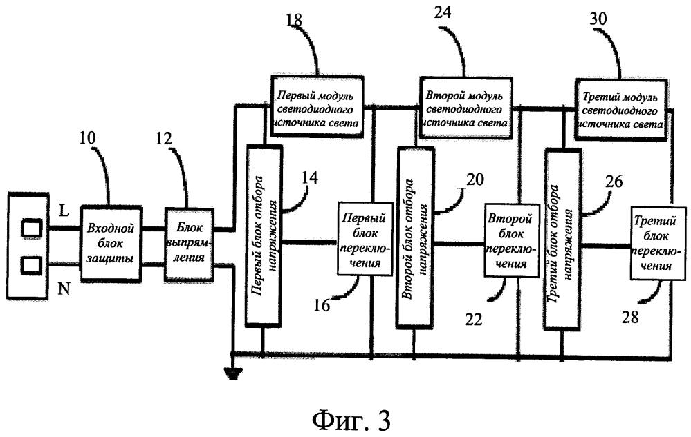 Схема управления яркостью светодиодного модуля с прямым питанием переменным током