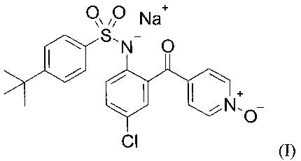 Кристаллическая форма натриевой соли 4-трет-бутил-n-{ 4-хлор-2-(1-окси-пиридин-4-карбонил)-фенил} -бензолсульфонамид