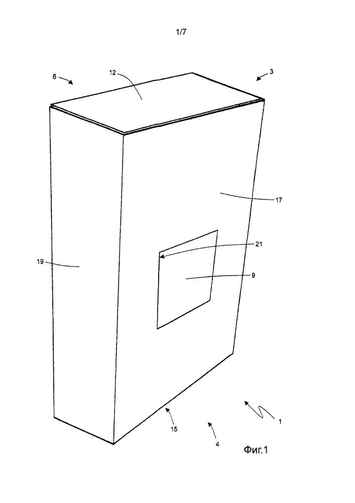 Способ упаковки для нанесения термосвариваемой оболочки на выдвижную пачку табачных изделий с шарнирной крышкой