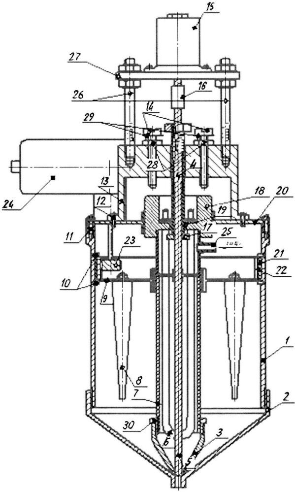 Бункер-дозатор для подачи порошка и связующего в зону приварки