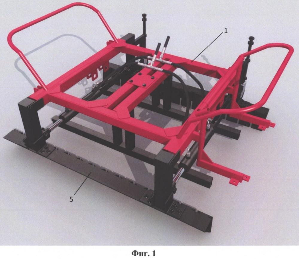 Захватное устройство порядно уложенных дорожных плиток для их перемещения от места складирования до места укладки в дорожное полотно