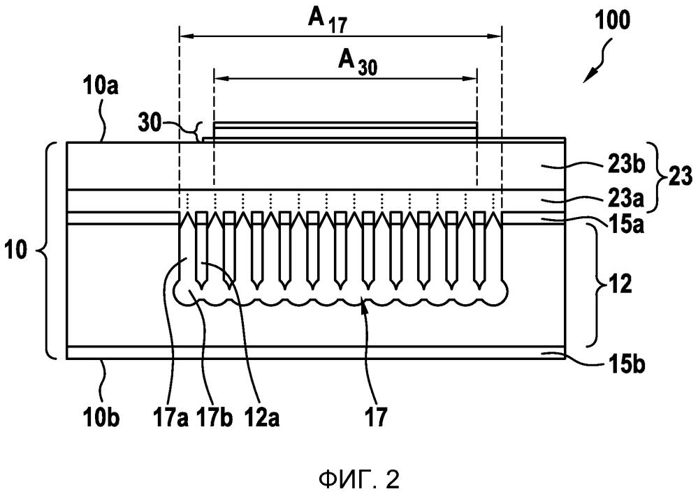 Устройство ультразвукового преобразователя и способ его изготовления