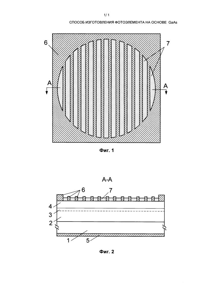 Способ изготовления фотоэлемента на основе gaas