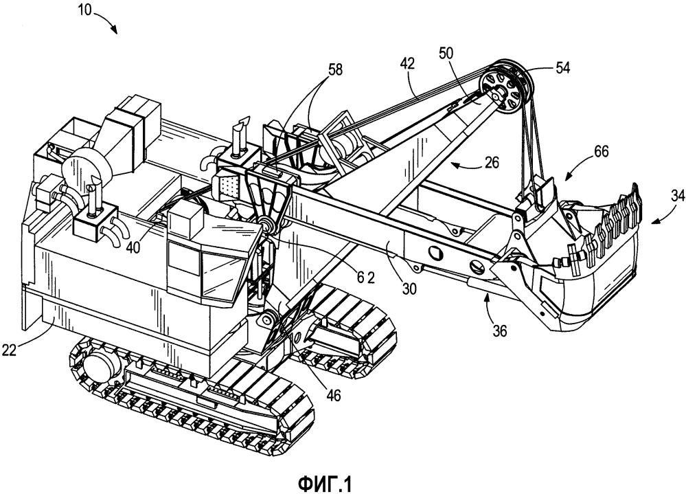 Экскаватор с поворотным ковшом ( варианты ), ковш и способ выборочного рытья отвала материала