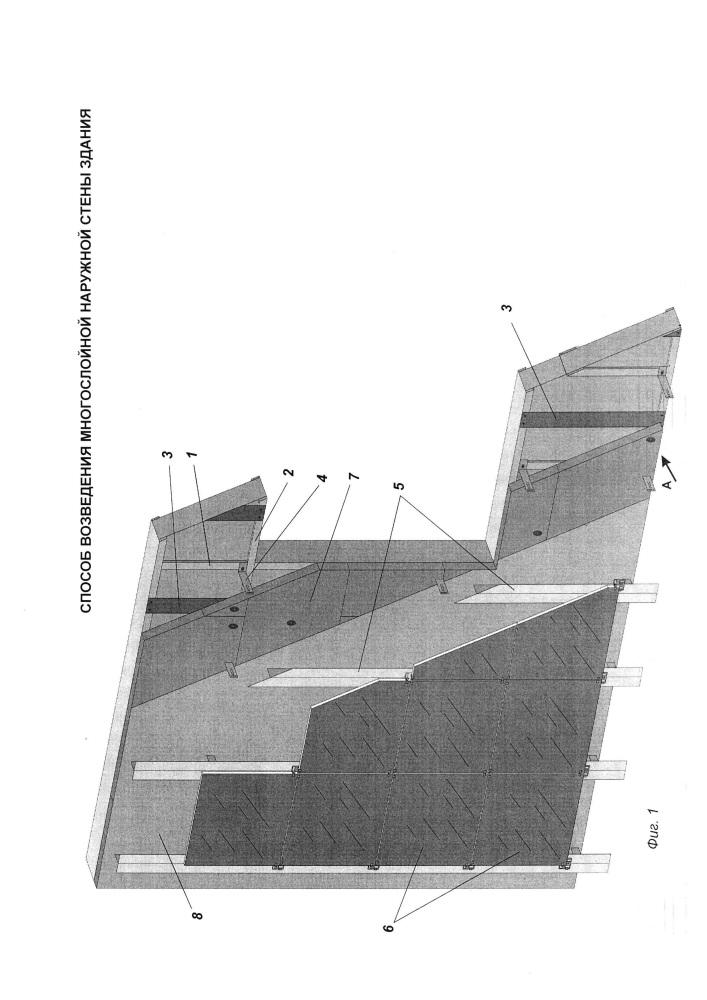Способ возведения многослойной наружной стены здания