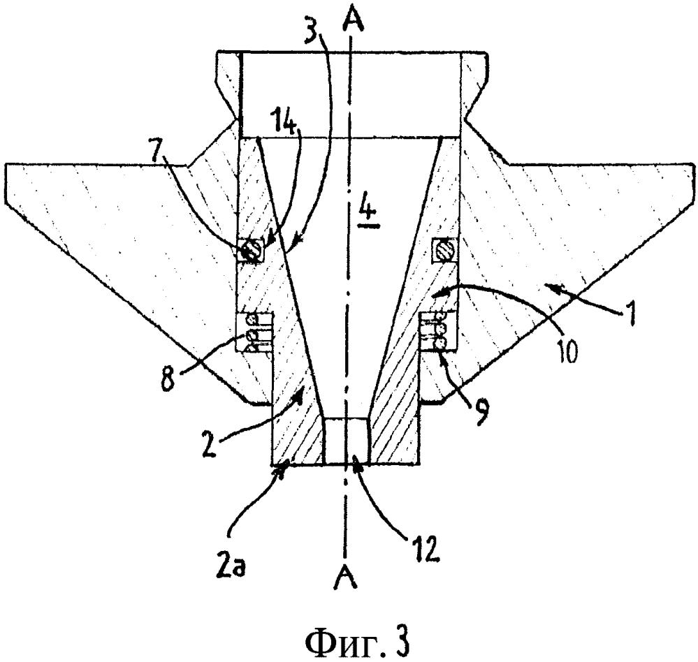 Лазерное сопло с подвижным элементом