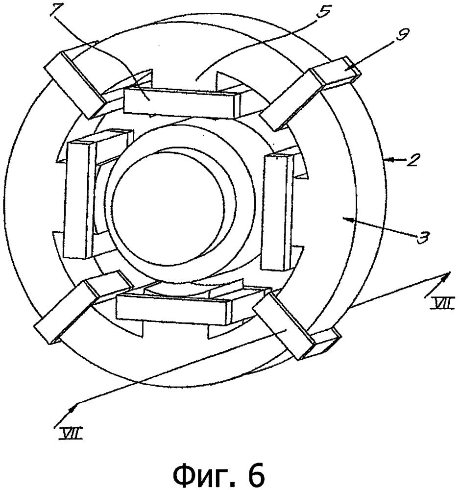 Магнитный подшипник и способ установки ферромагнитной структуры вокруг сердечника магнитного подшипника