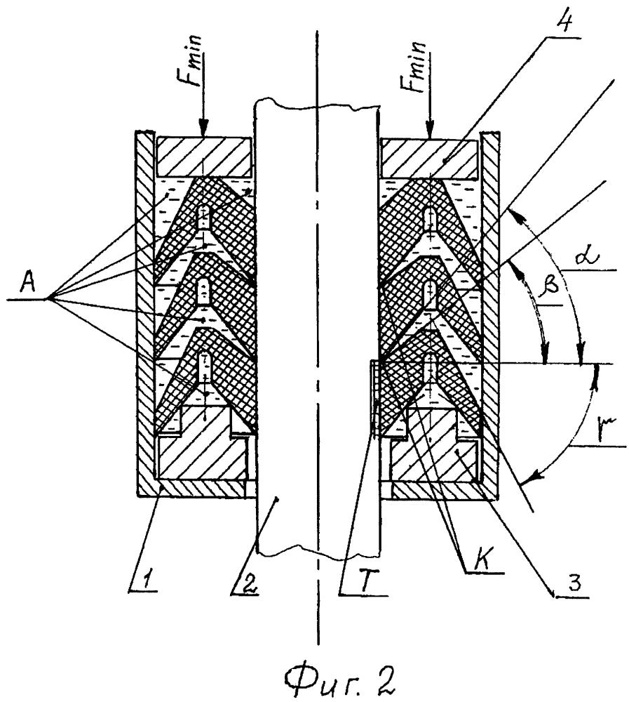 Самоуплотняющийся пакет асимметричных шевронных манжет