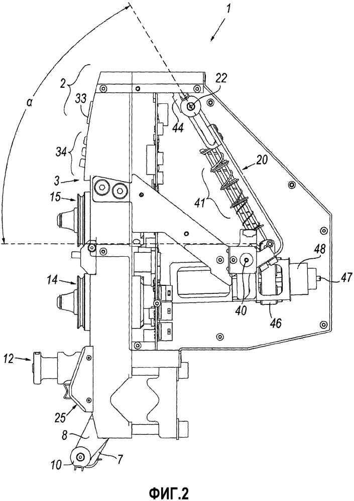 Принудительное подающее устройство для подачи металлических проволок с постоянным натяжением