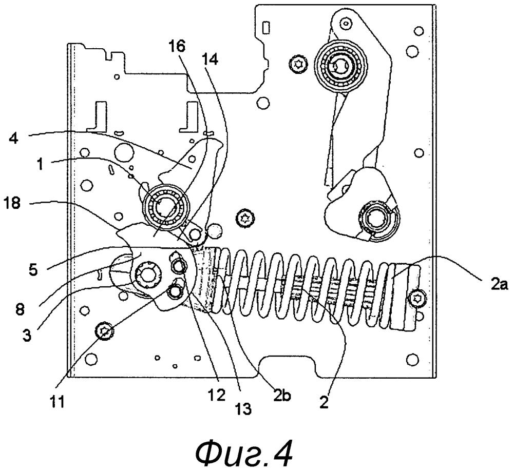 Оперативное полюсное устройство в электрическом аппарате управления среднего напряжения