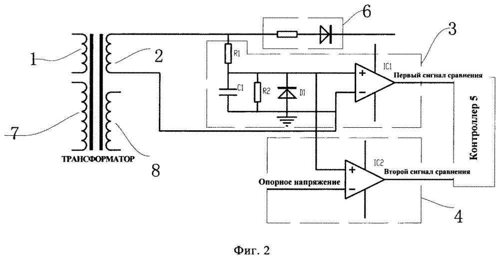Цепь защиты устройства высокочастотного индукционного нагрева и устройство высокочастотного индукционного нагрева с цепью защиты