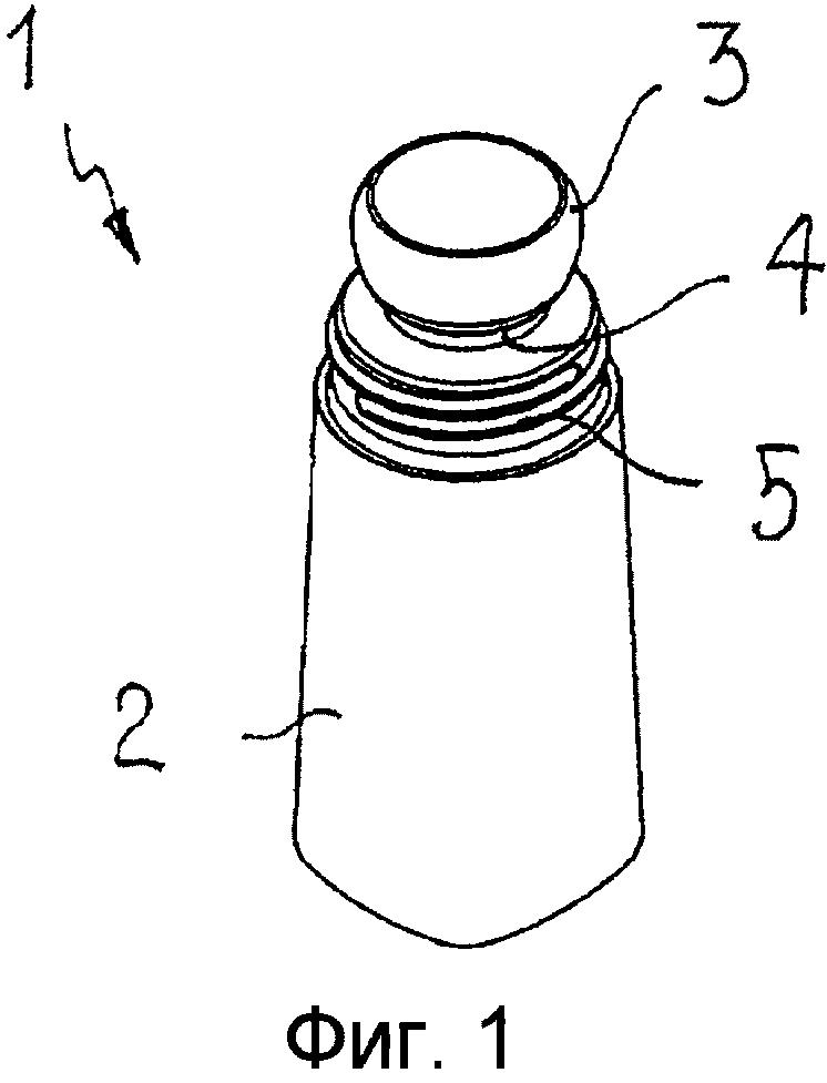 Пластиковая емкость для шарикового дезодоранта