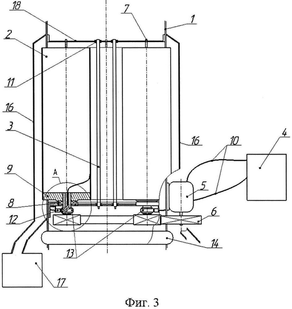 Вертикальный трубчатый электрофильтр (варианты)