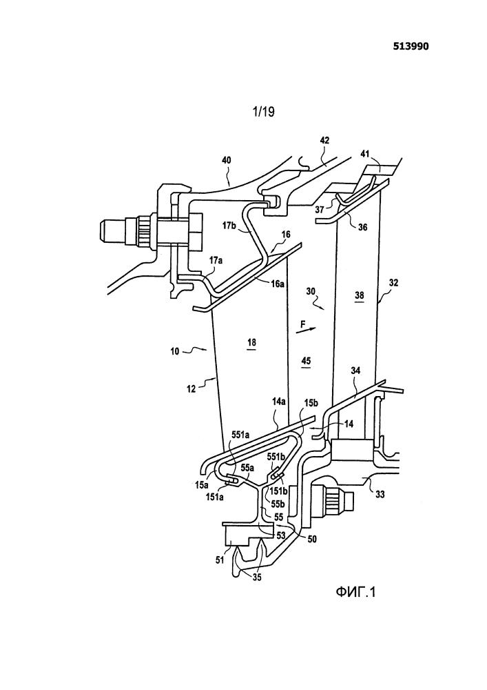 Способ изготовления сектора лопатки сопла турбины или статора компрессора, изготовленного из композитного материала, для турбинных двигателей и турбина или компрессор, включающий лопатку сопла или статора, состоящую из указанных секторов