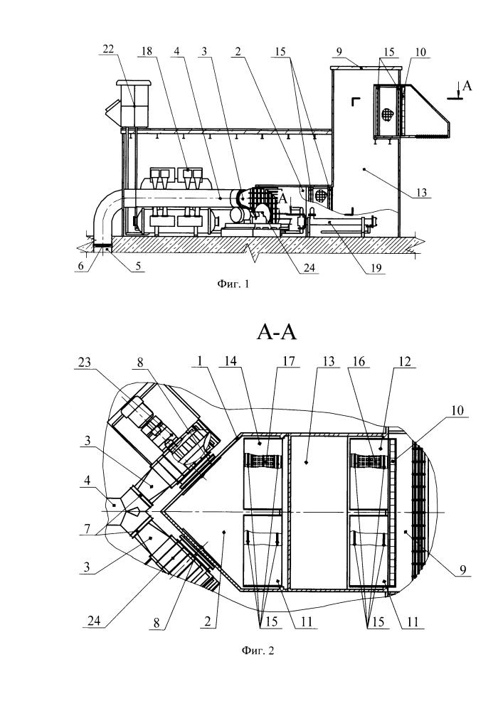 Шахтная установка для вентиляции и кондиционирования воздуха