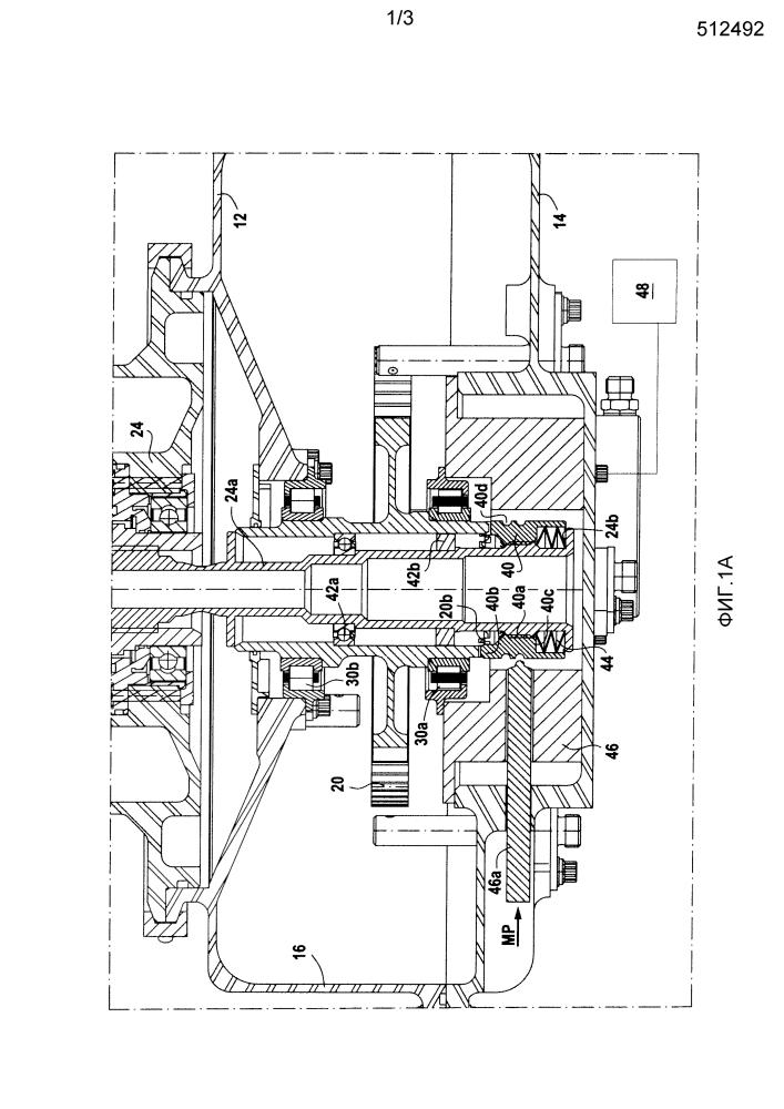 Коробка приводов агрегатов газовой турбины, включающая в своем составе средства расцепления