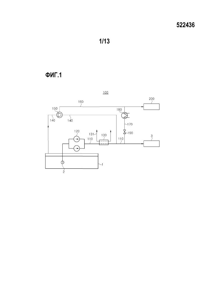 Система обработки сжиженного газа для судна