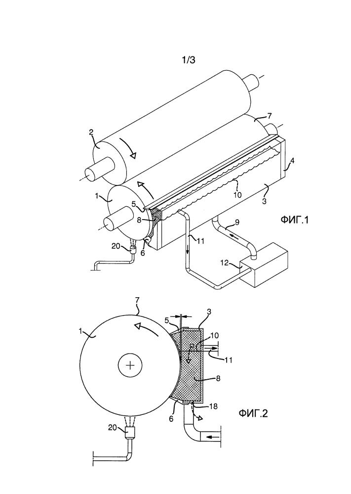 Устройство флексографской печати полотна упаковочного материала