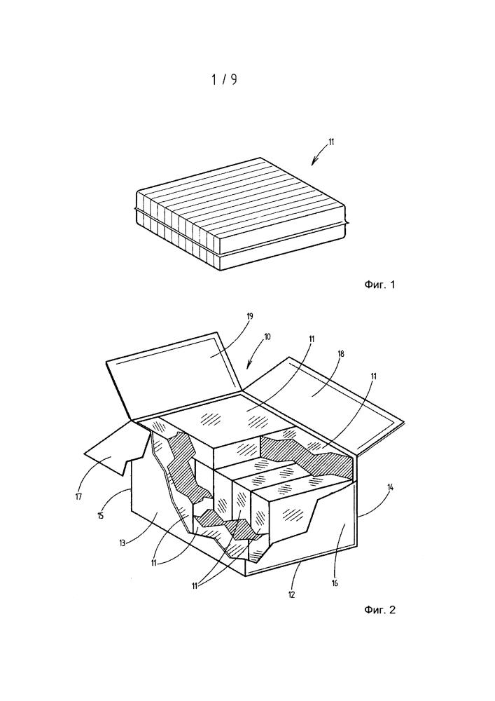 Способ и устройство для введения упаковок в картонную коробку