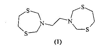 Способ получения 1,2-бис-(1, 5, 3-дитиазепан-3-ил)этана, обладающего сорбционной активностью по отношению к палладию(ii) и серебру(i)