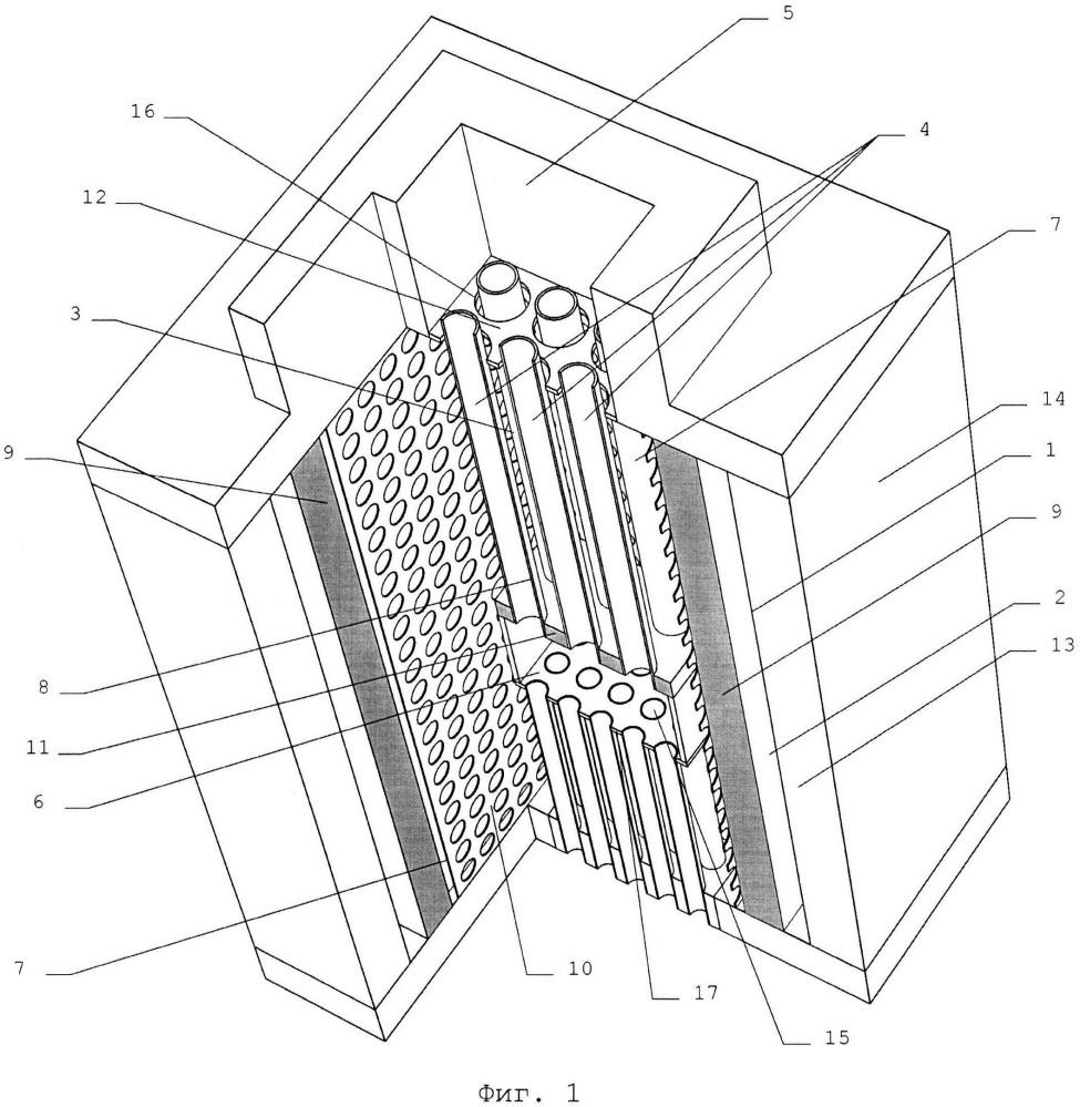 Электрохимический генератор на твёрдооксидных топливных элементах