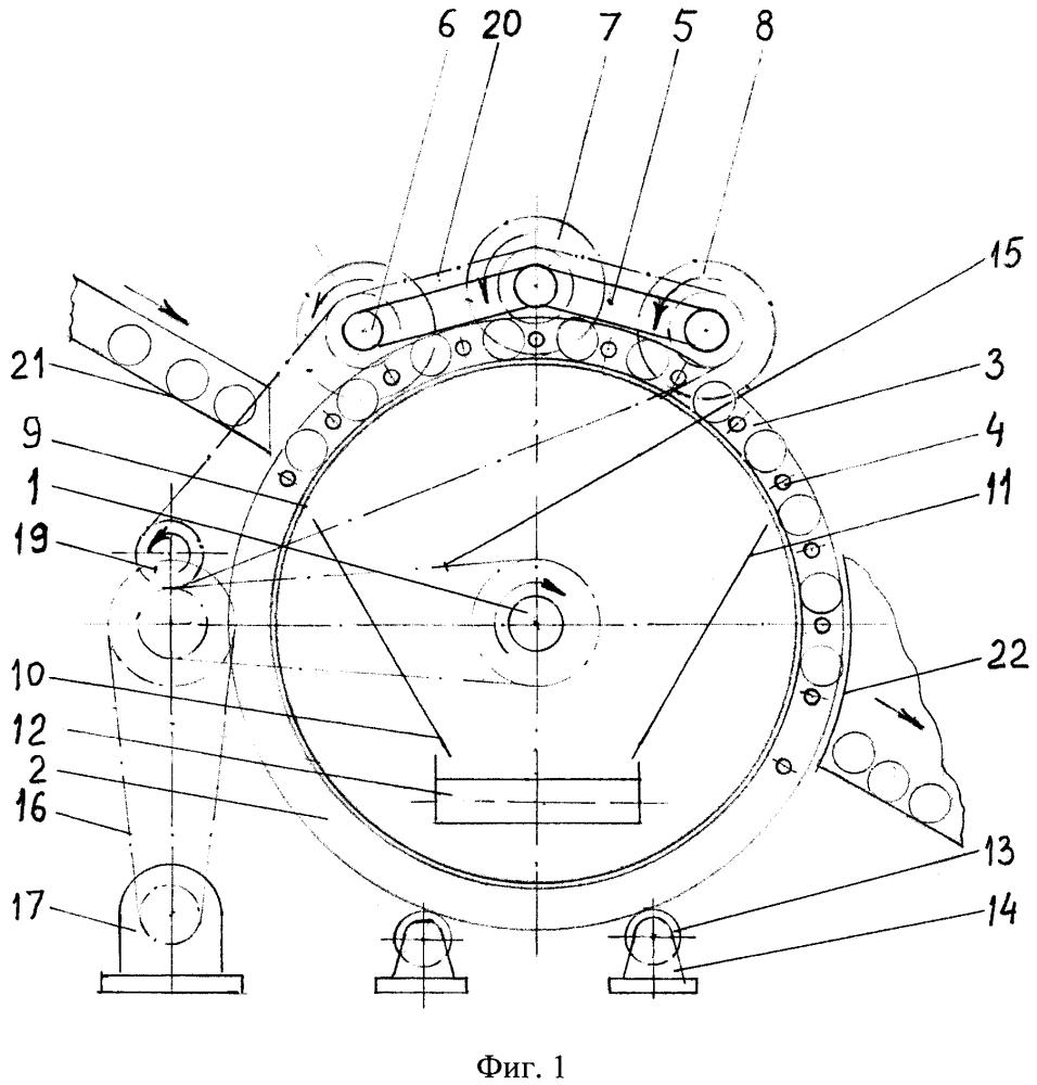Ротационное устройство сухой чистки поверхностей агрообъектов для линии поточной сепарации