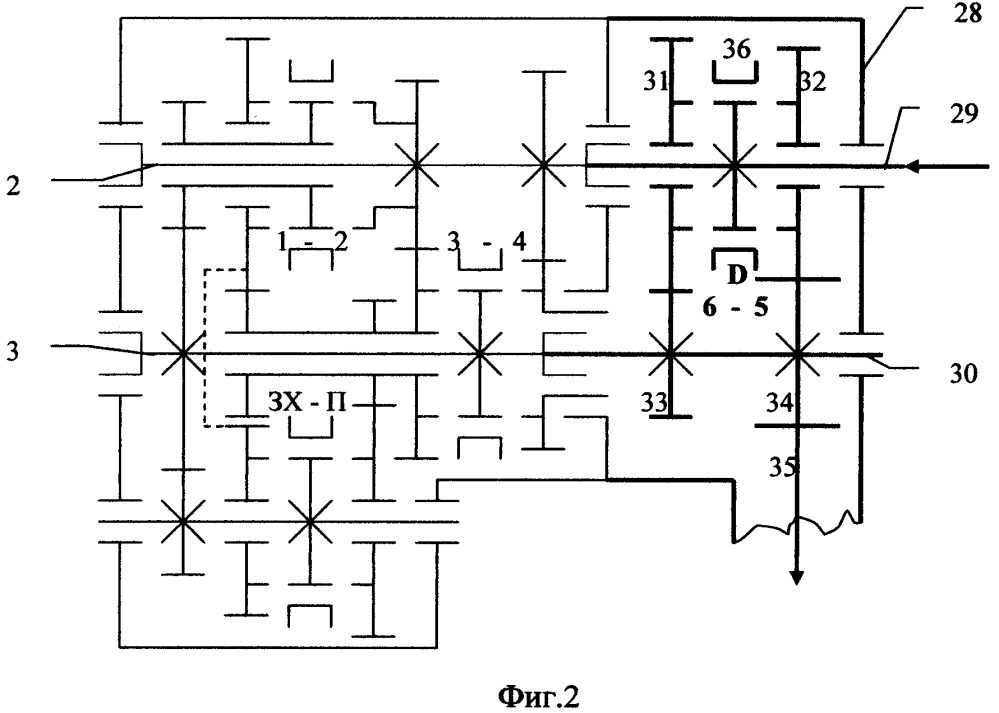 Способ получения вариантов конструкции несоосной коробки передач с промежуточным валом