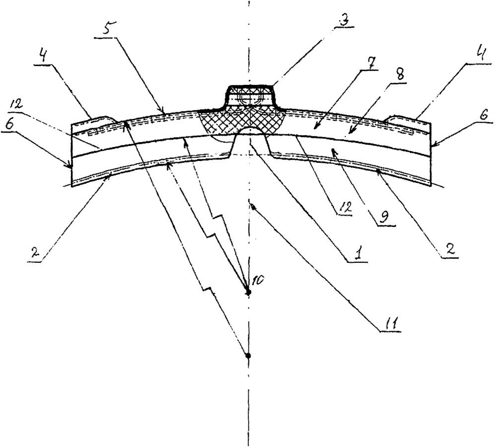 Тормозная колодка рельсового транспортного средства