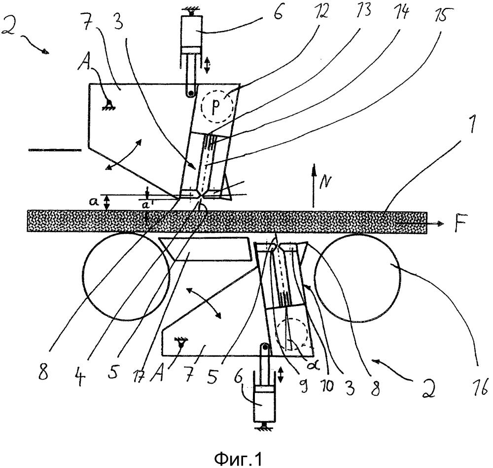 Способ очистки и/или удаления окалины с плоской заготовки или черновой полосы с помощью устройства для гидросбива окалины и устройство для гидросбива окалины