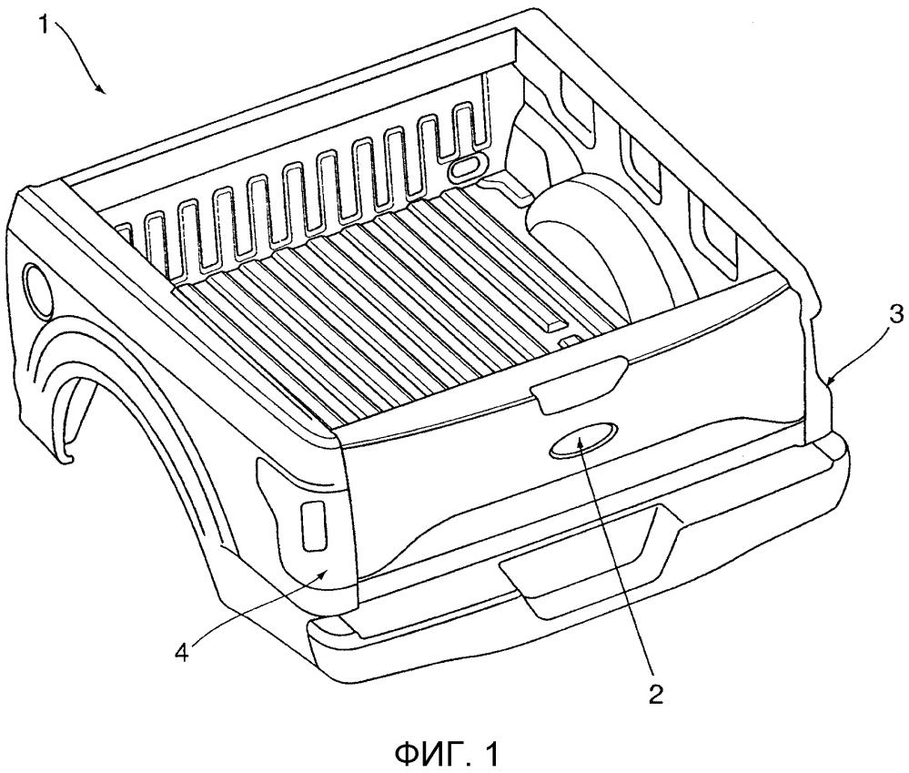 Отсоединяемый силовой привод для задних откидных бортов