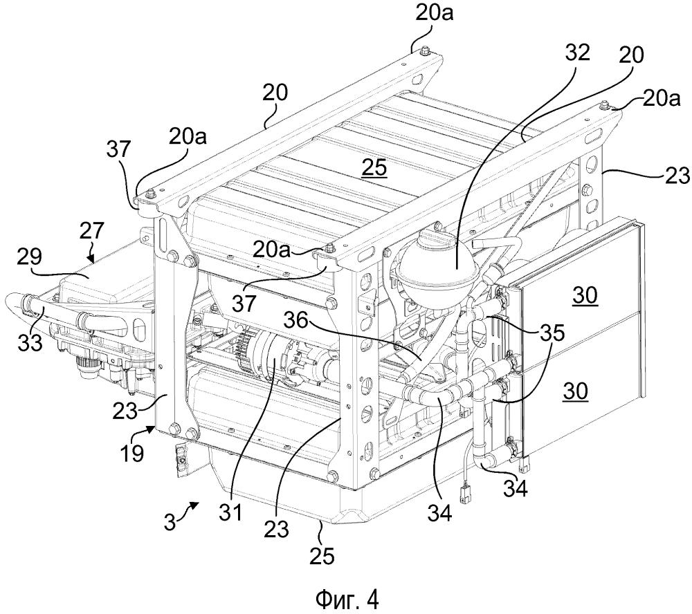 Электрический модуль привода для автомобиля, в частности грузового автомобиля