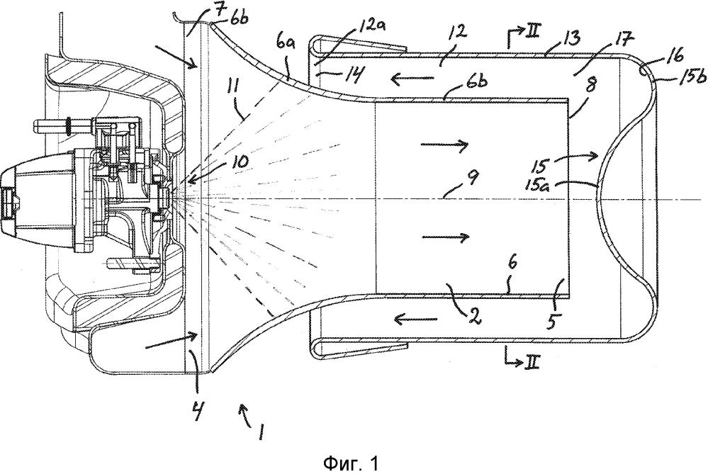 Устройство для введения жидкой среды в выхлопные газы двигателя внутреннего сгорания