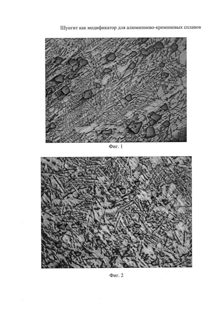 Шунгит как модификатор для алюминиево-кремниевых сплавов