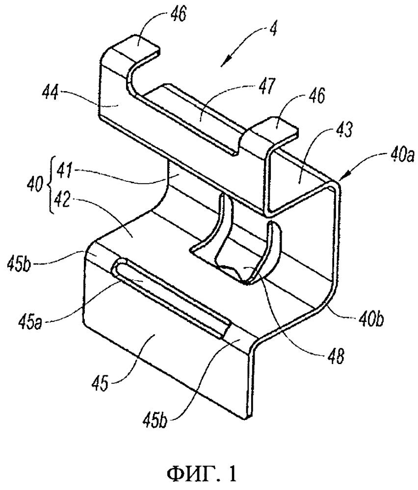 Снабженный стопорным язычком направляющий элемент для тормозной колодки дискового тормоза и дисковый тормоз с такими направляющими элементами