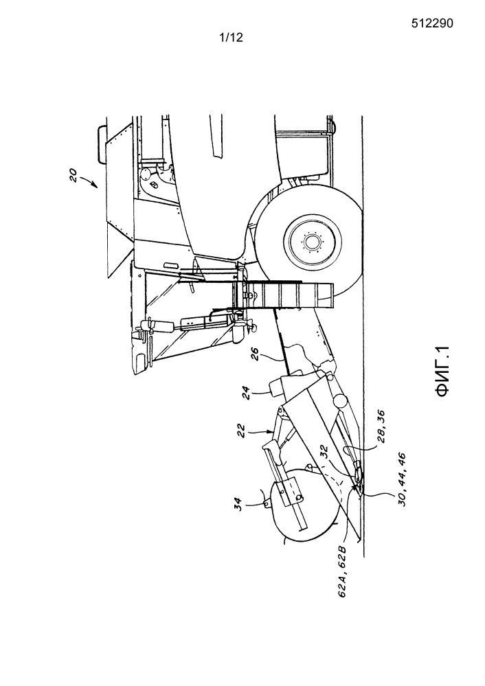 Уплотнение пола для центрального привода ножа для режущего аппарата срезающей растения машины