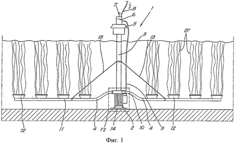 Устройство для аэрации, его применение и водоочистительная установка с таким устройством для аэрации