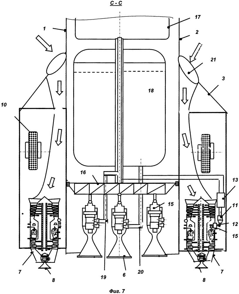 Возвращаемая ступень ракеты-носителя, способ ее работы и газотурбинный двигатель