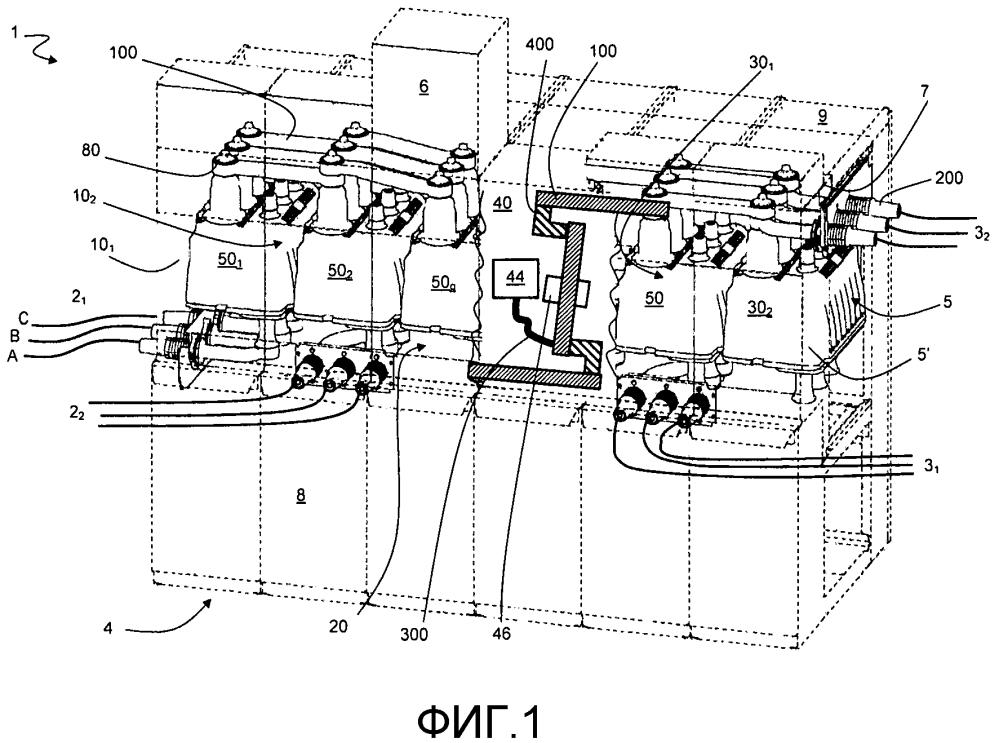 Газоотводящее устройство для функционального блока среднего напряжения и распределительная подстанция, содержащая его