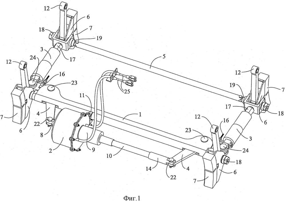 Встроенный тормоз вагонной тележки и компенсатор износа тормозной колодки для использования с этим встроенным тормозом вагонной тележки