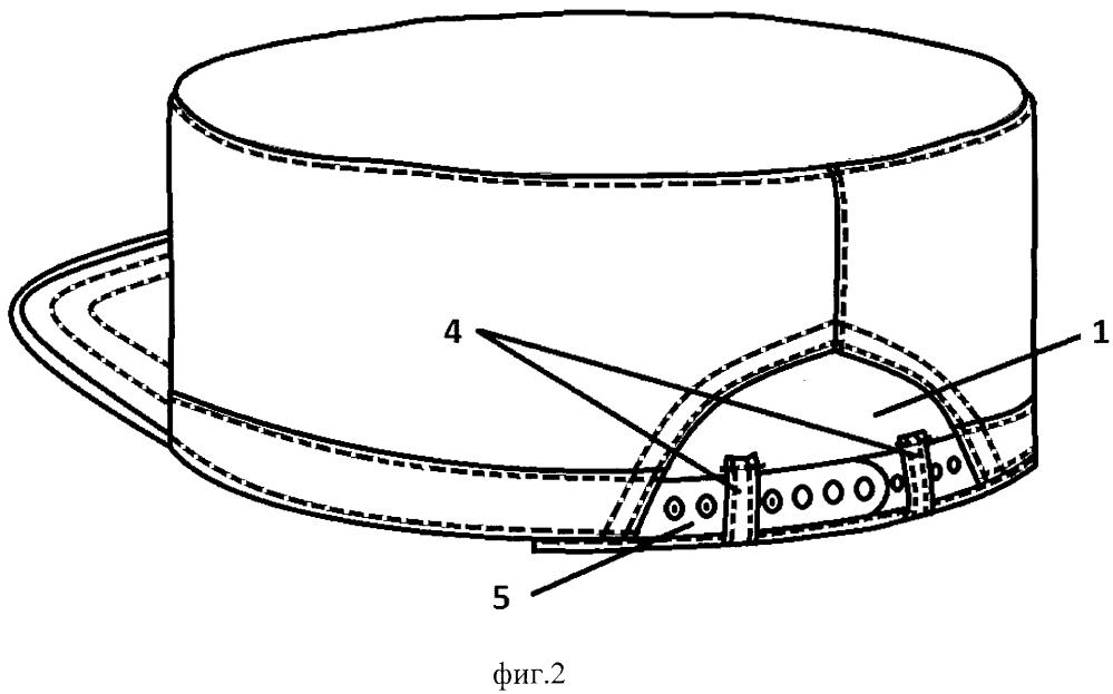 Назатыльник головного убора с тыльным вырезом