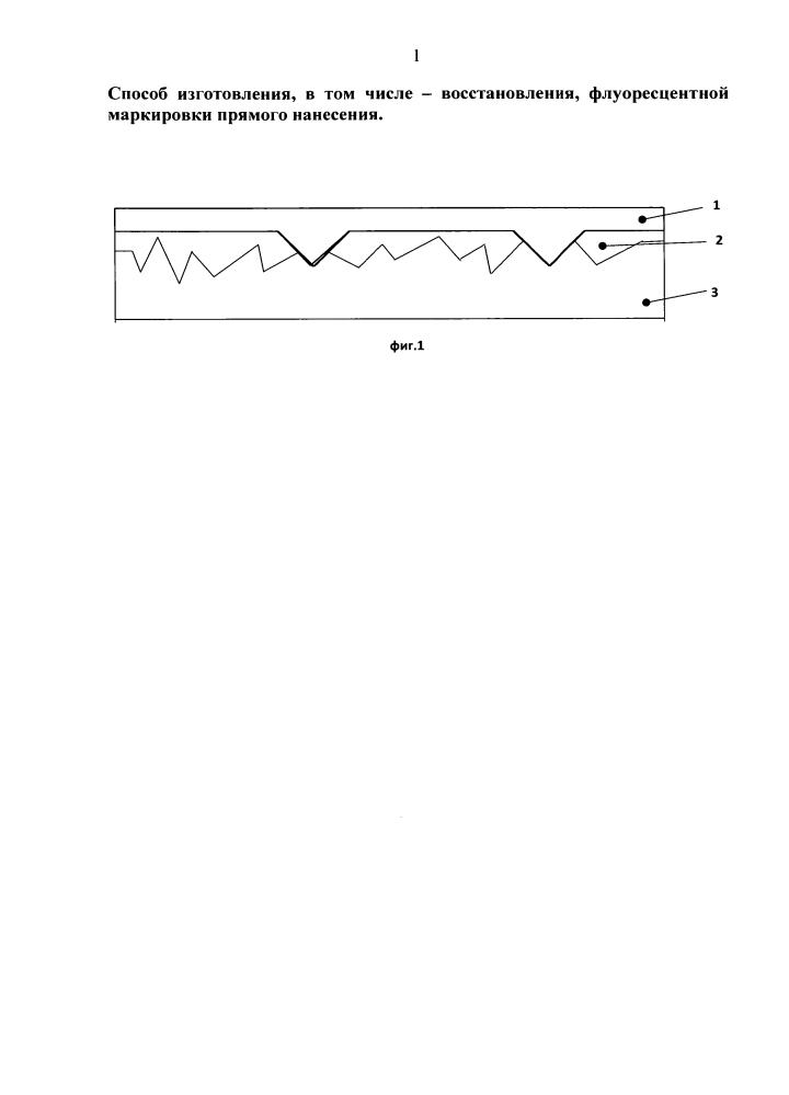 Способ изготовления, в том числе восстановления, флуоресцентной маркировки прямого нанесения