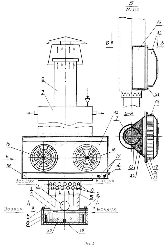 Горелочное устройство для производства тепловой и электрической энергии