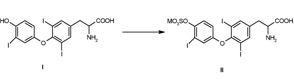 Способ получения сульфатированного производного 3,5-дийод-о-[3-йодфенил]-l-тирозина
