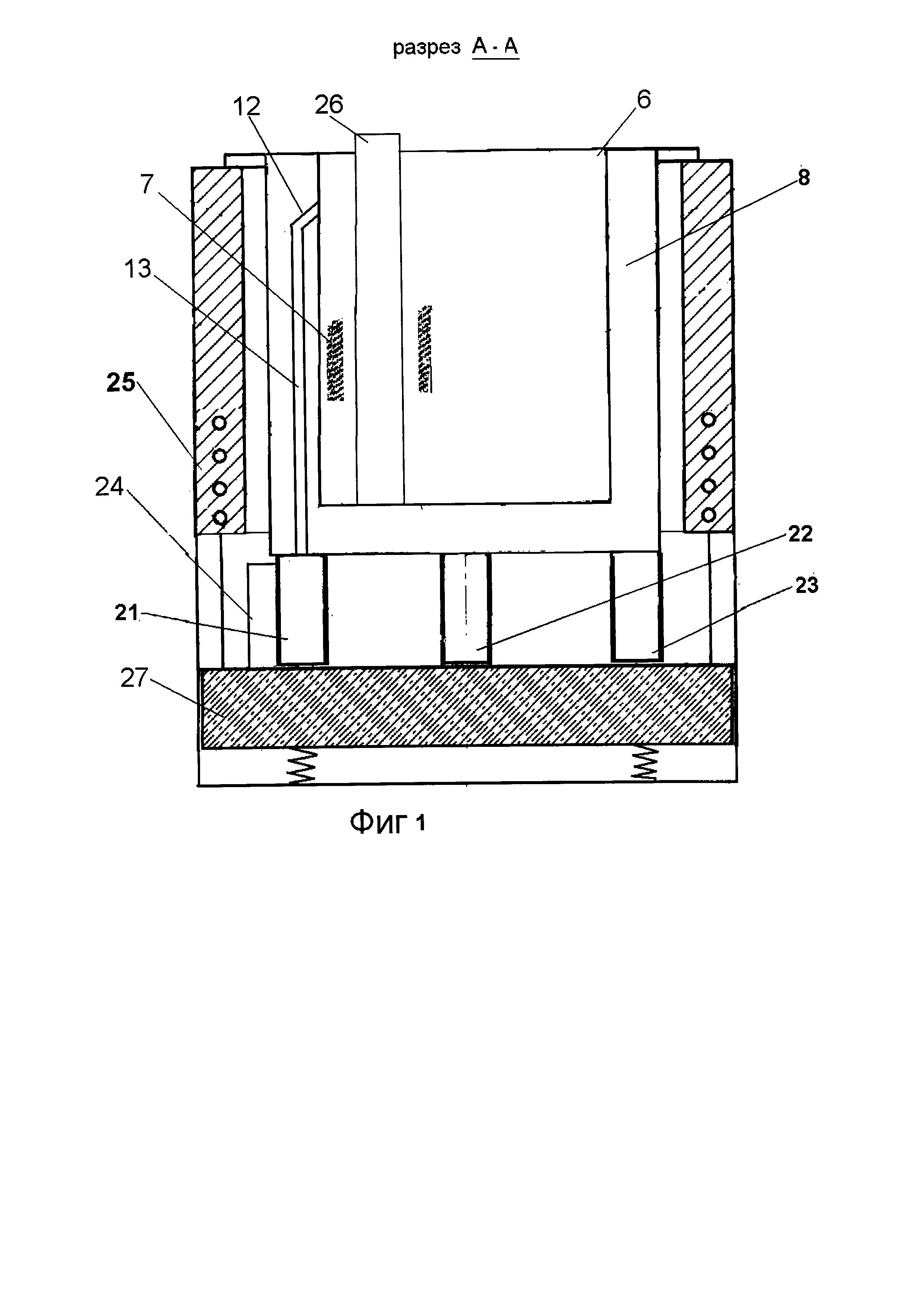 Электролизер для разделения легкоплавких сплавов электролизом в расплаве солей