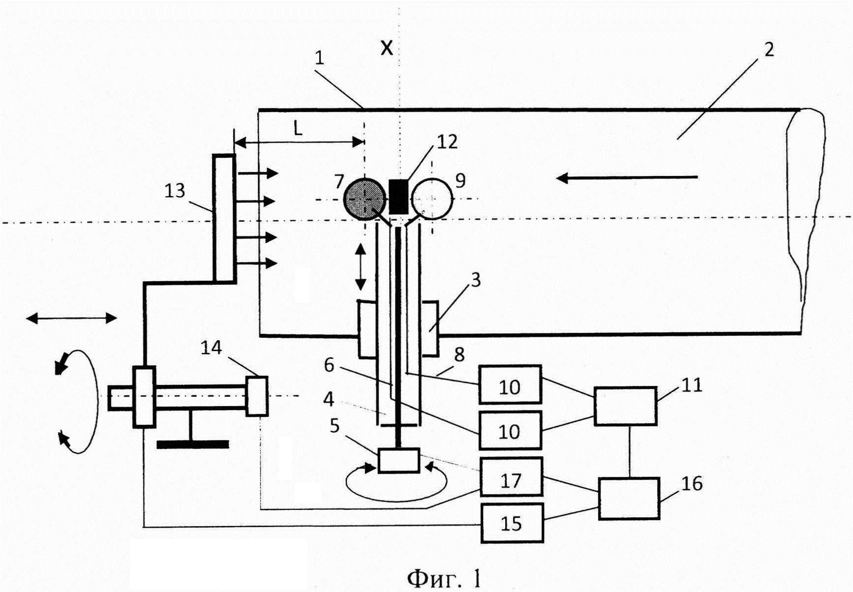 Устройство для определения температуры газа в полых высокотемпературных элементах газотурбинных двигателей